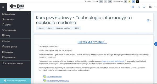 Platforma e-learningowa Com-Learn